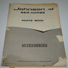 Parts Book Ersatzteilkatalog Johnson Sea Horse Accessories Stand 1968!