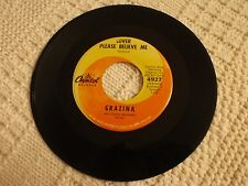 TEEN GRAZINA LOVER PLEASE BELIEVE ME/SO WHAT CAPITOL 4927 RECORDED IN ENGLAND M-