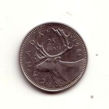 Canada   25 cents  1981      BB    (m470)