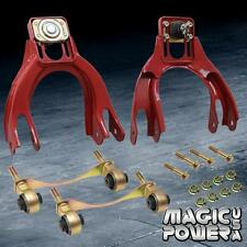 Red Suspension Front Upper Camber Kit + Bushing Kit 1994-2001 Acura Integra DC2