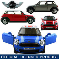 1:30 Mini Cooper S Diecast Model Alloy Metal Car Kids Pull Back Toy Collection