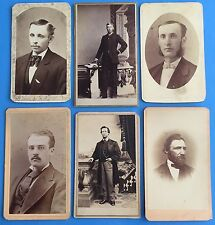 *Original* LOT OF 6 DAPPER GENTS Men in Suits ~ CDV Photo PORTRAITS 1870's-80's
