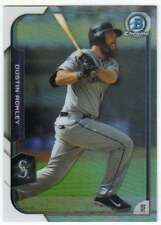 2015 Bowman Chrome Refractor /499 #80 Dustin Ackley Mariners