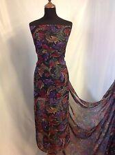 NEW Designer multicolour Chiffon Floral Print Fabric Dress Serong Blouse Celica