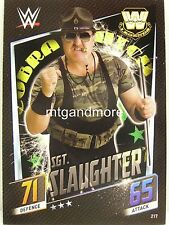 Slam Attax Then Now Forever - #217 Sgt. Slaughter