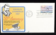 Dr Jim Stamps US Charles Lindbergh 50TH Anniv FDC Spectrum Cover 1977 Scott 1710