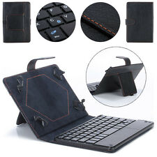 Universal 8-9 inch Bluetooth Keyboard Leather Stand Case For PC Tablet New Black