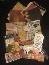 Huge Fall and Halloween Scrapbooking Lot Paper Stickers Embellishments & More