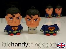 Carino Cartoon Super Man 8GB USB Flash Drive Memoria penna / stick REGALO PORTACHIAVI