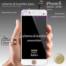 BIANCO TOUCH SCREEN VETRO SCHERMO + LCD DISPLAY ASSEMBLATO PER iPhone 6 4,7""