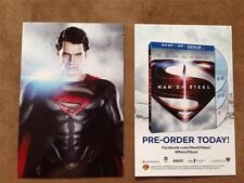 MAN OF STEEL POSTCARD 4x6 Movie Poster D/S Original Promo Item MINT DVD Release