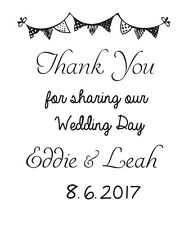 Wedding Thank you stamp, DIY wedding custom