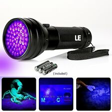 395nm 51 LEDs Ultraviolet Blacklight Flashlight Pet Urine & Stain Detector Lamp