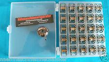 Nähmaschinen CB Spulenkapsel + 25 Spule inkl. Box für AEG,Privileg,Pfaff,Singer