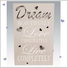 Dream Light Up LED WALL PLAQUE Hanging SIGN Butterfly Design