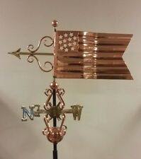 Beautiful unique FLAG COPPER WEATHERVANE, COMPLETE/ mount,SHIPS IN ONE DAY !!