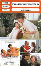 Movie Card. Fiche Cinéma. L'amant de Lady Chatterley (France) Just Jaeckin 1981