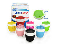 I'M NOT A PAPER CUP: THERMAL INSULATED CERAMIC ECO CUP TRAVEL MUG SILICON LID