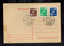 1941 Parnu Estonia Postcard Cover Occupation Stamps # N3-N5
