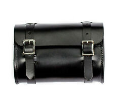 Genuine Leather Black Motorcycle Tool Pouch Bag - American Made