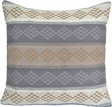 "Handmade Kilim Cushion Cover 20"" 50cm Cotton Indian Persian Moroccan Grey Beige"