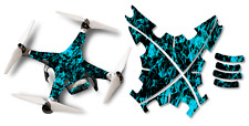 DJI Phantom 2 Drone Wrap RC Quadcopter Decal Custom Skin Accessory Blue Flames