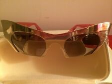 New Miu Miu Cateye Cat Eye Rasoir Brushed Gold Sunglasses Pink SMU 530