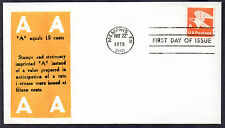 1743 -- A-rate coil stamp -- First Day cover, Virgil Crow cachet