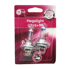 2 X H7 Halogen Light Bulbs Ultra Plus 90% Megalight Xenon Ge Genuine 55w
