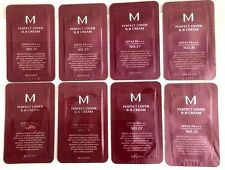 MISSHA M PERFECT COVER BB CREAM #21,#23,#27.#31 assorted 8 Samples