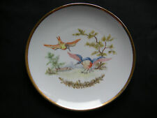 VTG THOMAS GERMANY PLATE PRETTY INDIVIDUALLY HAND PAINTED BIRDS ARTIST SIGNED