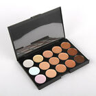 15 Color Camouflage Concealer Make Up Cream Eyeshadow Palette Face Cover Kit