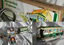 TRAMWAY MECANIQUE BAVARIAN CIRCUIT jouet en tole old toys tin toys jouet ancien