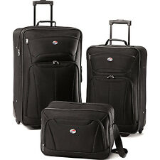 American Tourister Fieldbrook II Three-Piece Luggage Set (Black)