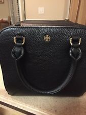 NWT  TORY BURCH  LEATHER ROBINSON MINI SATCHEL BLACK $450
