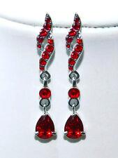 Ohrstecker Ohrringe mit Kristallen von Swarovski Fb. Rot Straß Schmuck  SR29