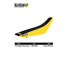 1999-2000 SUZUKI RM 125 RM 250 Yellow/Black STANDARD SEAT COVER BY Enjoy MFG
