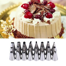 24 Pcs Icing Piping Nozzles Tips Cake Sugarcraft Pastry Decor Baking Tools Kit