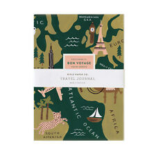 TRAVEL JOURNAL Diary Notebook 'Bon Voyage' by RIFLE PAPER CO Gift Stationery