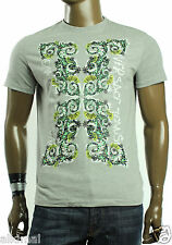 $175 NEW MENS VERSACE JEANS CREW NECK GRIGIO CHIMICO T SHIRT TEE M 50