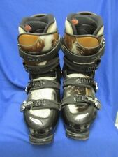 Rossignol Ski Boots Black Plastic w/Cowhide Thermofit Rare Hard Soft Women's 9