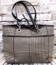 "Lauren Ralph Lauren Handbag Purse Bag HoundsTooth 8"" X 12"" X 4"" Removable Straps"