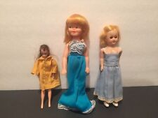 "LOT OF 6"" Topper Doll Vintage 1970 Collectible, 8"" Hard Plastic Doll & 7.5"" doll"