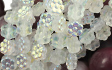 18 Crystal AB Czech Glass Flower Beads 8MM