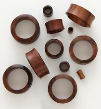 1 Pair 30mm Dark Brown Sono Organic Natural Wood Tunnels Ear Plugs Gauges 476
