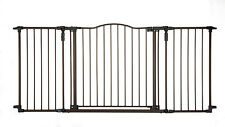 North States Supergate Deluxe DECOR METAL GATE, Metal BABY GATE, 4934, Brown