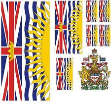 Canada Prv. British Columbia Car Caravan Truck Boot Sticker Flaggen set m Wappen