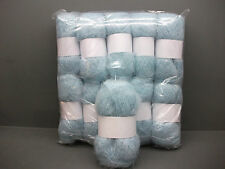 Mohair Wool Yarn 10 x 50g Balls Pale Blue 78% Mohair Double Knitting