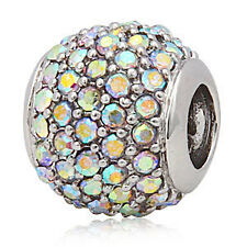ANDANTE-STONES SILBER PAVE KRISTALL BEAD FUNKELNDE AB ZIRKONIA #3192 + GESCHENK