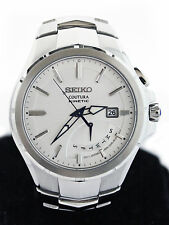 $425 Seiko Men's SRN063 Coutura Retrograde Kinetic Stainless Steel Watch 8""